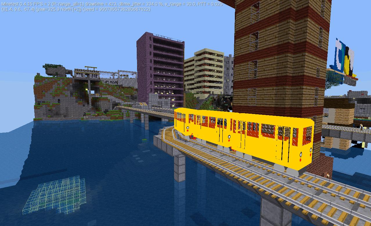 U-Bahn vor Leuchtturm